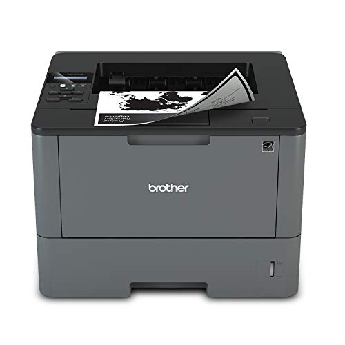 Brother Monochrome Laser Printer, HL-L5200DW, Wireless Networking, Mobile Printing, Duplex Printing, Amazon Dash Replenishment Ready