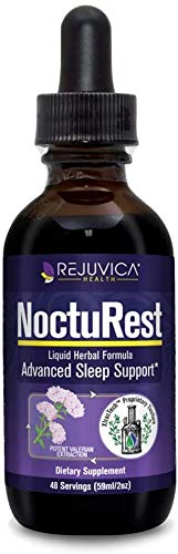 NoctuRest Natural Sleep-Aid with Valerian and Melatonin - Herbal Liquid Formula with Magnesium, L-Theanine & More