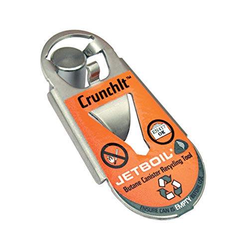 Jetboil Crunchit Fuel Canister Recycling Tool (Orange)