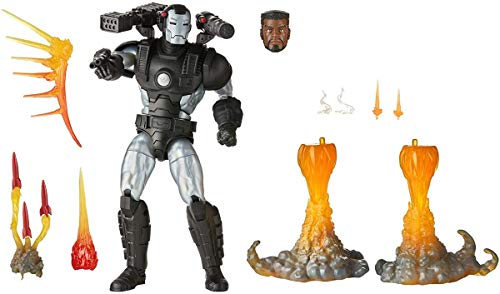 Hasbro Marvel Legends Series 6-inch Collectible Action Figure Deluxe Marvel's War Machine Toy, Premium Design and 8 Accessories