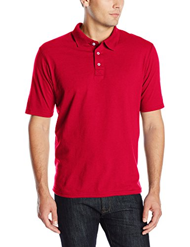 Hanes mens X-Temp Performance Polo Shirt,Deep Red,3X-Large