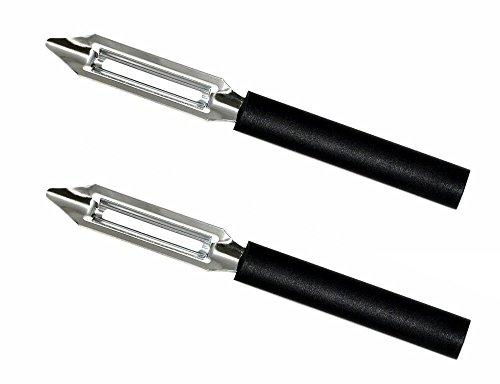 Rada MFG 2 PieceCutlery Deluxe Vegetable Peeler, Black Handle