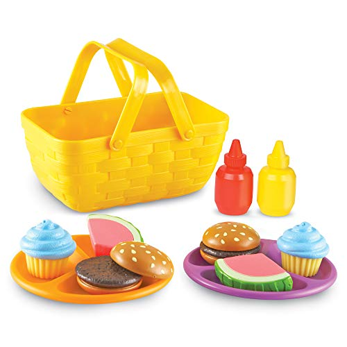 Learning Resources New Sprouts Picnic Set, Toddler Outdoor Toys, Pretent Play Food, Ages 18 mos+