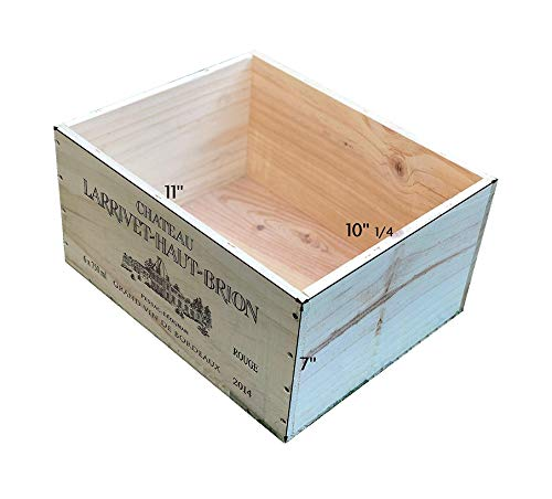 MIX 1 Wine Crate French Original Six Count Bottles Wine Wood Box