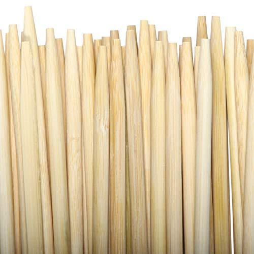 FIREPIT STIX 50 PCS | Bamboo Marshmallow ROASTING STICKS | 36' Long 5'mm Thick Extra Long Heavy Duty | Semi-Dulled Point | Wooden BBQ S'Mores Hot Dog Skewer | Great for Parties and Weddings!!