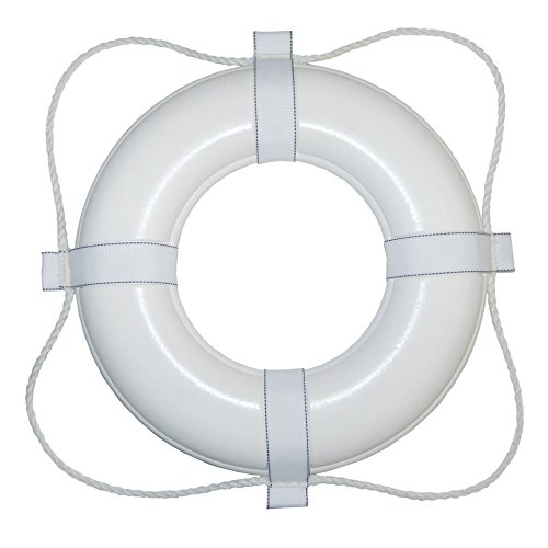 Taylor Made Products 360 20-Inch Polyurethane Foam Marine Life Ring with Grab Lines-White