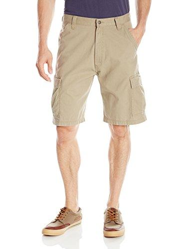 Wrangler Authentics Men's Classic Relaxed Fit Cargo Short, British Khaki Twill, 40