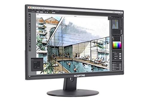 Sceptre E205W-1600 20' 75Hz Ultra Thin LED Monitor HDMI VGA Build-in Speakers, Metallic Black (2018 version)