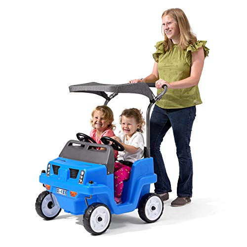 Step2 Side-by-Side Push Around SUV   Two-Seater Toddler Push Car   Blue