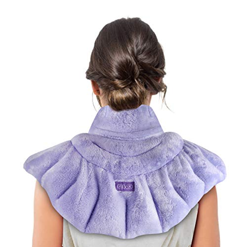 REVIX Microwave Heating Pad for Neck Shoulders and Back Pain Relief, Weighted Microwavable Heated Neck Wrap Warmer