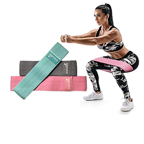 Resistance Bands Exercise Bands for Leg & Butt,3 Non-Slip Fabric Exercise Hip Bands,Activate Hips & Glutes, for Stretching,Home Workouts,Yoga,Body Shaping,Weight Loss,Ideal for Men & Women