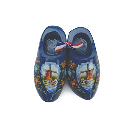 Essence of Europe Gifts E.H.G Holland Wooden Shoes Deluxe Blue Windmill (1.5')