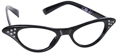 Hip Hop 50s Shop Kids Cat Eye Glasses (Baby-Toddler, black)