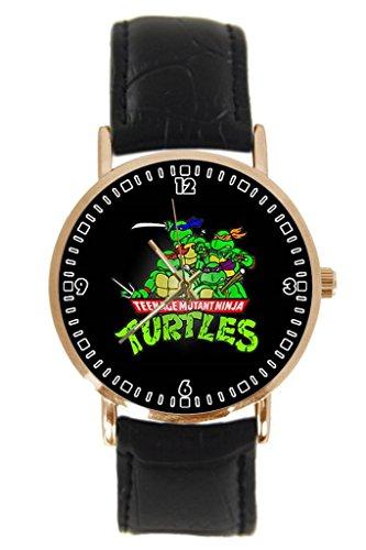 TMNT Teenage Mutant Ninja Turtles Custom New Fashion Leather Band Unisex Wrist Watch YouGem Design Gift