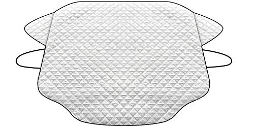 HEHUI Car Windshield Snow Cover,Car Windshield Snow Ice Cover with 4 Layers Protection,Snow,Ice,Sun,Frost Defense,Extra Large Windshield Winter Cover Fits Most Cars and SUV