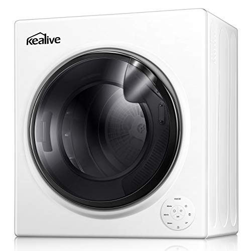 Kealive Clothes Dryer | 13.22 Lbs. /3.5 Cu.Ft. |1500W Quick Dry Dryer | Touch Screen| Portable Laundry Dryer Apartments| Automatic Drying Mode | Intelligent Humidity Sensor | Stainless Steel Tub