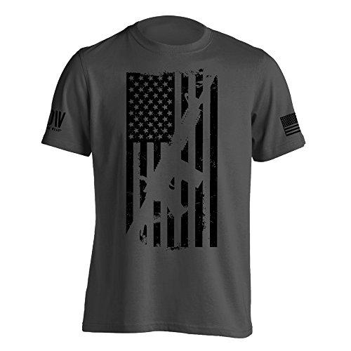 Dion Wear AR15 American Flag M4 T-Shirt X-Large Charcoal