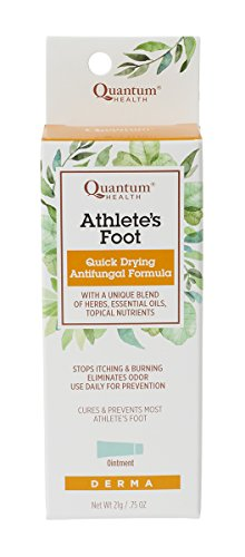 Quantum Health Athlete's Foot Ointment, Quick Drying Topical Formula with Tea Tree Oil that Cures & Prevents Most Athlete's Foot, Stops Itching & Burning, Eliminates Odor, For Daily Use, 21gm