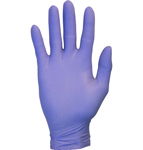 The Safety Zone GNEP-LG-1P Nitrile Exam Gloves - Medical Grade, Powder Free, Latex Rubber Free, Disposable, Non Sterile, Food Safe, Textured, Indigo Color, Convenient Dispenser Pack of 100, Size Large