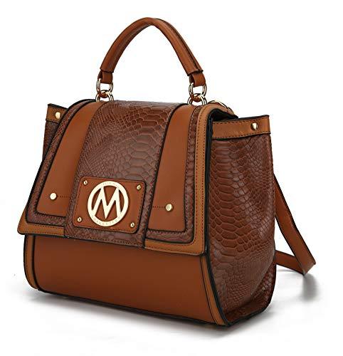 MKF Convertible Backpack Purse & Satchel Shoulder Bag for Women & Girls – PU Leather Top Handle Lady Travel PocketbookCognac