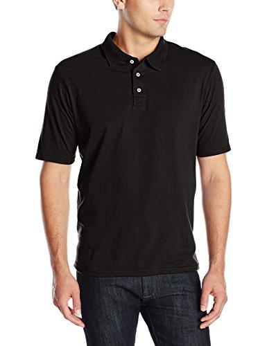 Hanes mens X-Temp Performance Polo Shirt,Black,Small