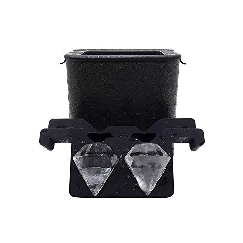 Helpcook Crystal Clear Diamond-Shaped Ice Maker,Ice Cube Tray-Makes 2 Large Ice Diamonds for Chilling Whiskey Cocktails