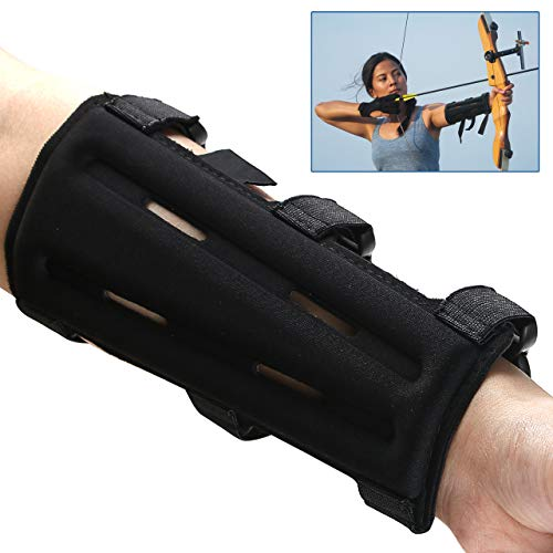 SBL Archery Arm Guard, Arm Protector with 3-Strap Accessory, Forearm Protector Adjustable Lightweight, Comfotable Arm Protector for Shooting Practice,Bow Hunting Accessories for Youth& Adults(1 Pack
