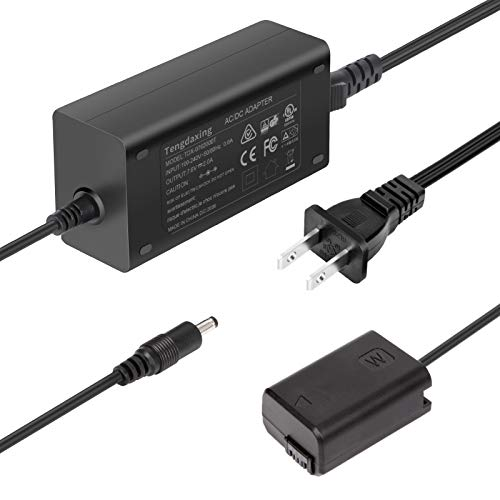 ACPW20 Power Adapter NP-FW50 Dummy Battery Coupler Power Supply kit for Sony Alpha A6000 A5000 A5100 A6100 A6300 A6400 A6500 A7 A7II A7RII A7S A7SII A7R A35 A37 A55 RX10 Cameras by Tengdaxing