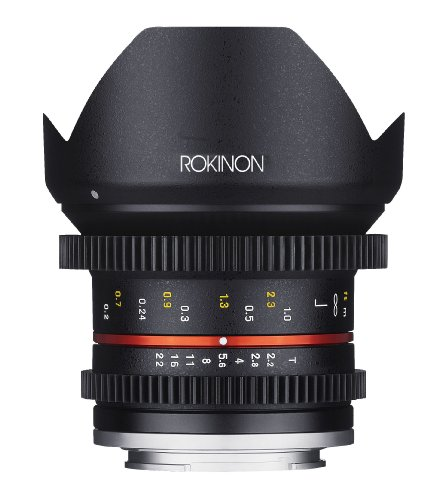 Rokinon Cine CV12M-E 12mm T2.2 Cine Fixed Lens for Sony E-Mount and Other Cameras