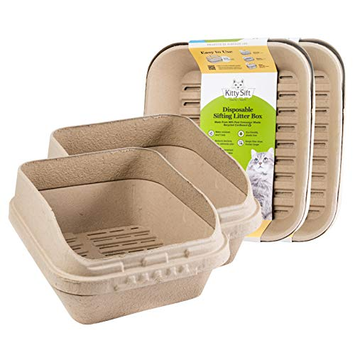 Kitty Sift Disposable Sifting Litter Box and Liners Kit (Jumbo, Pack of 2)