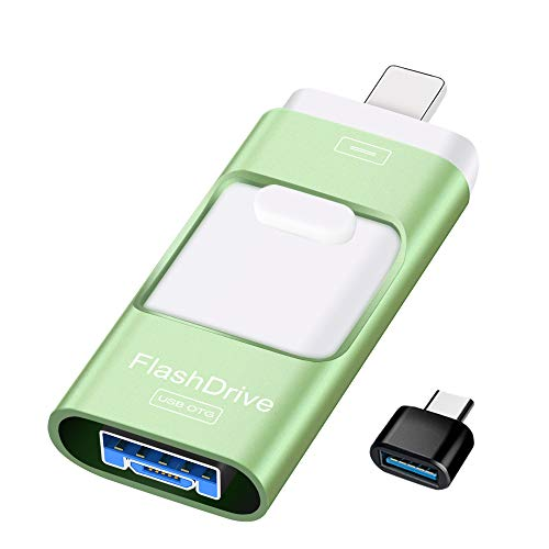 Sunany USB Flash Drive 256GB, Photo Stick Memory External Data Storage Thumb Drive Compatible with iPhone, iPad, Android, PC and More Devices (Green)