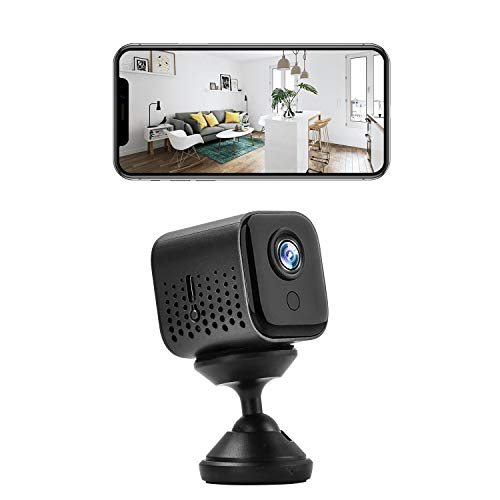 WiFi Hidden Camera, 1080P HD Nanny Camera with Night Vision and Motion Detection, Mini WiFi Camera with Phone APP, Security Camera for Indoor Outdoor Home Office Car
