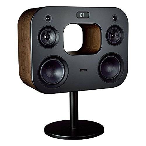 Fluance Fi70B Three-Way Wireless High Fidelity Music System with Powerful Amplifier & Dual 8' Subwoofers (Natural Walnut)