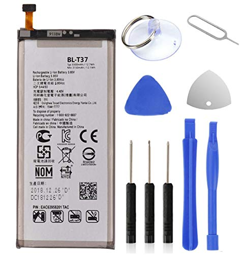 LG Stylo 4 Battery,3300mAh Li-Polymer Battery Replacement for LG Stylo 4 / BL-T37 Q710 Q710AL Q710MS Q710TS Q710CS Q710AL Q710US with Repair Replacement Kit Tools