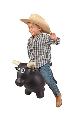 Big Country Toys Lil Bucker Bull - Kids Bouncy Toys - Hopper Ball with Bull Rope for Kids - Rodeo Toy - Bouncy Ball - Rodeo Hopper Toy