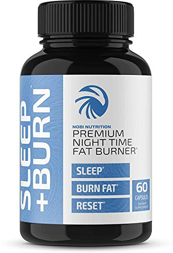 Nobi Nutrition - Night Time Fat Burner, Sleep Aid & Appetite Suppressant - Green Coffee Bean Extract, PM Weight Loss Pills, Diet Pills, Carb Blocker & Metabolism Booster for Men & Women - 60 Capsules