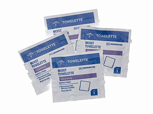 Medline MDS094184 Latex Free Antiseptic Towelette (Pack of 1000)