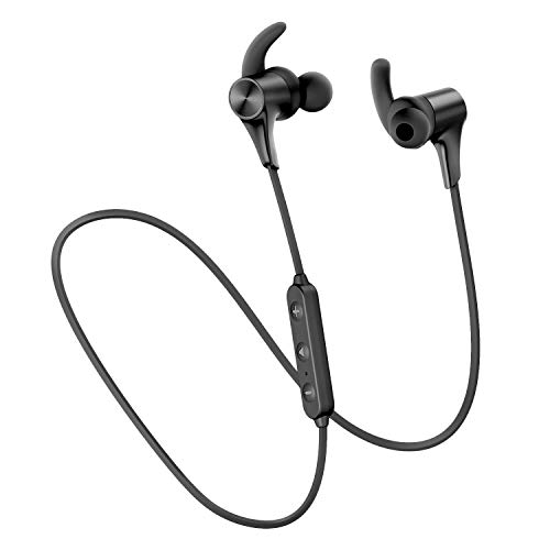 SoundPEATS Q12 HD Bluetooth Headphones IPX6 in-Ear Stereo Bluetooth 5.0 Earphones Magnetic Wireless Earbuds with 14 Hours Playtime, APTX-HD, CVC 8.0, 10mm Drivers