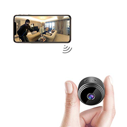 AREBI Spy Camera Wireless Hidden WiFi Mini Camera HD 1080P Portable Home Security Cameras Covert Nanny Cam Small Indoor Outdoor Video Recorder Motion Activated Night Vision A10 Plus [2021 Version]