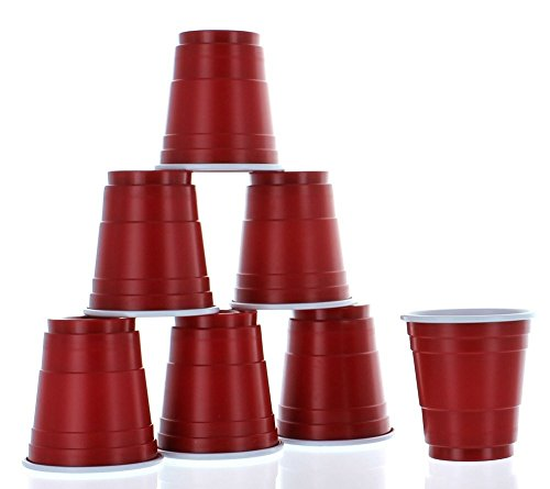 Red Mini Party Cup Shot Glasses Pack of 100