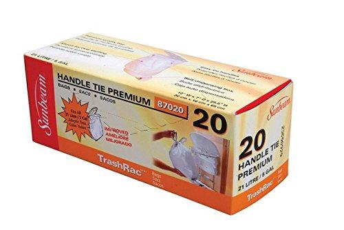 Sunbeam Trashrac 87020 5 gal Trash Bags44; Pack of 20