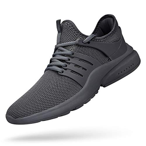 Feetmat Men's Athletic Shoes Lightweight Sneaker Walking Tennis Slip On Shoes Wide Fashion Sneakers Barefoot Running Shoes Gtey 8