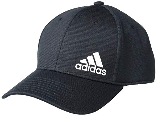 adidas Men's Release II Stretch Fit Structured Cap, Black/White, S/M