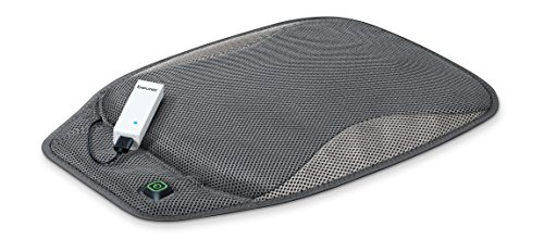 Beurer Portable Wireless Heated Seat Cushion with Convenient Storage Bag, Rechargeable, Durable for Indoor & Outdoor Use, Hk47