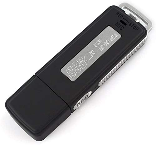 8 GB Voice Recorder,Rechargeable Mini USB Voice Recorder USB Flash Drive Voice Activated Recorder Dictaphone 15 Hours Battery Life 150 Hours File Capacity for Playback Lectures, Meetings, Interviews