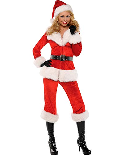 Amscan Sexy Santa Babe Costume for Women, Christmas Costume, Medium, with Included Accessories