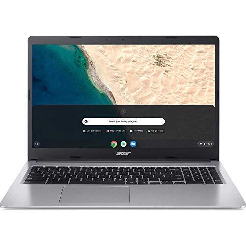 Acer 15.6inch Chromebook-Intel Celeron N4000 Processor, 4GB RAM, 32GB SSD, Intel UHD Graphics, Numeric Keypad, WiFi, Bluetooth, Chrome OS-(Renewed) (Silver)