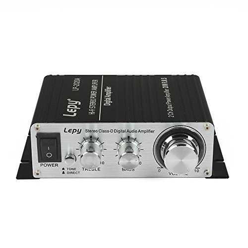 Lepy LP-2020A Class-D Hi-Fi Digital Amplifier with Power Supply Black