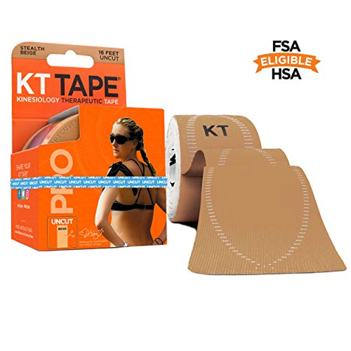 KT Tape Pro Kinesiology Therapeutic Sports Tape , Stealth Beige