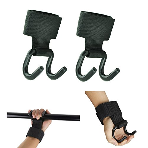 MaxxMMA Gym Power Weight Lifting Grips Hooks Straps Wrist Support - 1 Pair